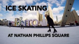 Ice Skating at Nathan Phillips Square, Toronto - J&C Toronto