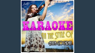 I Could Love a Man Like That (In the Style of Anita Cochran) (Karaoke Version)