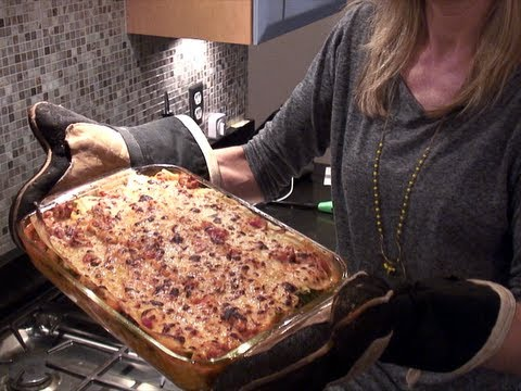 Healthy Lasagna Recipe ~ Turkey Spinach & White Beans