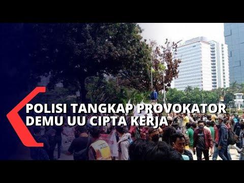polisi tangkap provokator perusuh unjuk rasa