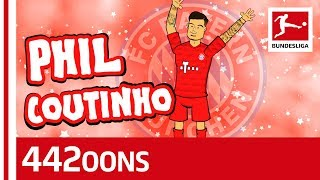 Philippe Coutinho - FC Bayern's new star! ► Sub now: https://redirect.bundesliga.com/_bwCS  He is the new star in the Bundesliga and has now been officially introduced by FC Bayern München. The attacking magician can play in various positions on the pitch as he looks to help his new club defend their Bundesliga title. Philippe Coutinho is ready to enchant the Bundesliga and in this new song powered by 442oons he already practises his tricks on his new teammates. Which trick do you want him to pull off on the pitch? Let us know in the comments!!  ► Watch Bundesliga in your country: https://redirect.bundesliga.com/_bwCT  ► Join the conversation in the Bundesliga Community Tab: https://www.youtube.com/bundesliga/community  The great collaboration between the Official Bundesliga YouTube and 442oons started in 2017. Since day one we've been bringing great content to you and allow you to experience the animated Bundesliga stars in a way you've never seen before! Hilarious songs and voting where your opinion counts – we want you involved, too! Subscribe now, stay tuned at https://bndsl.ga/comYT and watch out for new collaborations coming up!