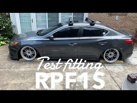 Unbox + Test Fit Enkei RPF1s on Acura ilx