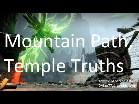 Mountain Path, Temple Truths - Dragon Age: Inquisition Gameplay With Karl Trevelyan - Paragade Blues