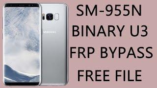 Bypass Google Account SAMSUNG GALAXY s8 s8 plus binary 3 u3 - Video