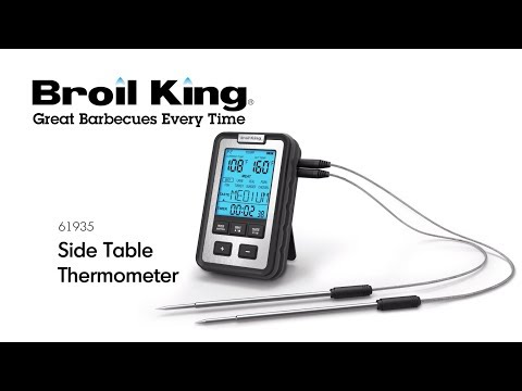 Digitaltermometer, sidobord Broil King