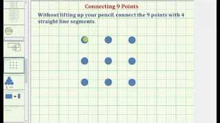 Connect 9 Points With 4 Line Segments Without Lifting Up Your Pencil