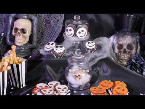 Receita de cupcakes caveira para Halloween