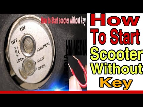 How to start your Bike or scooter without keys in just 1 min || must