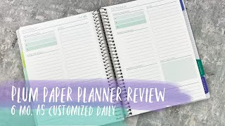 PLUM PAPER A5 DAILY PLANNER | Review & How It Will Work Within My System | Tattooed Teacher Plans