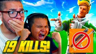 HARDEST FORTNITE CHALLENGE EVER ATTEMPTED LEADS TO MY LITTLE BROTHER BREAKING HIS RECORD KILLS!!