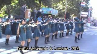 preview picture of video 'Desfile Aniversario Ciudad de Lambare 2013 - Escuela Nuevo Horizonte'
