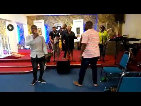 bro Ifeanyi Samuel rehearsing