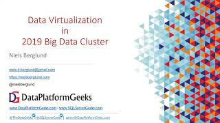 Data Virtualization in SQL Server 2019 Big Data Cluster by Niels Berglund