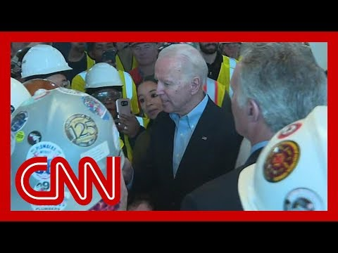 Joe Biden confronted