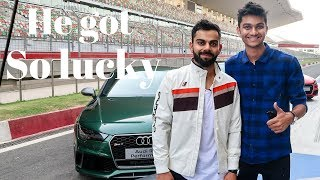 Lucky guy drives Audi R8 with Virat kohli in Delhi