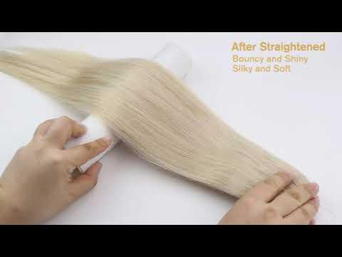 Full Shine 100% Human Hair Halo Extensions Platinum Blonde (#60)