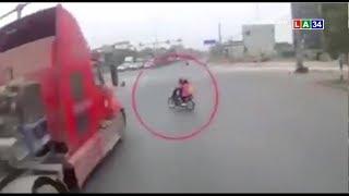 Camera nóng | Tài xế container phanh cháy đường cứu 2 mạng người | LONG AN TV
