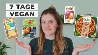 7 Tage VEGAN - Ersatzprodukte im Test: Veganer Käse, Ei-Ersatz & Tiefkühlpizza | Selbstexperiment