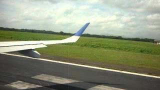 preview picture of video 'Gabriel Umaña. Despegue/ Take off Managua a/ to Guatemala. Copa CM 407'