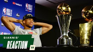 """Giannis' Reaction: """"I'm a FREAKING CHAMPION 