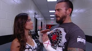 AJ Confronts CM Punk: Raw, May 21, 2012