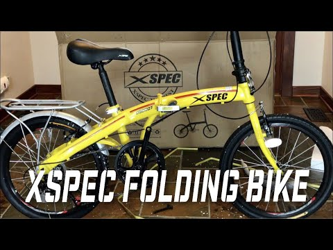 Setup and review of the Xspec 20″ 7 Speed Travel Folding Bike Bicycle with Shimano gears