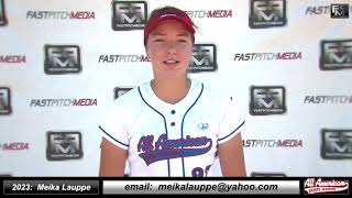 2023 Meika Lauppe Power Pitcher Softball Skills Video - AASA 18 Gold Merrida