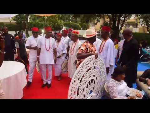 Igwe Okagbado of Awka Etiti  Celebrates with Chief Onwa of Awka Etiti