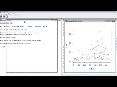 Statistics with R (1) – Linear regression