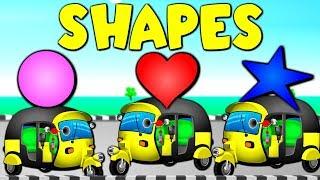 Shapes Song with Auto Rickshaws | Tuk Tuk Song and many more