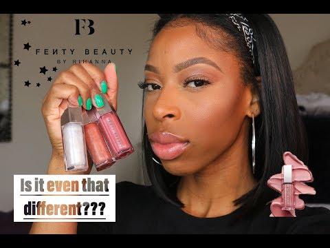 FUSSY GLOSSBOMB 💣  review/comparison Fenty Beauty