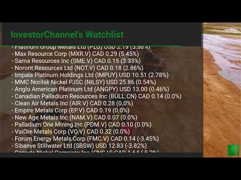 InvestorChannel's Palladium Watchlist Update for Monday, S ... Thumbnail