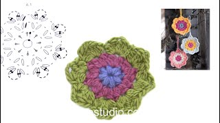 How To Crochet The Flowers In DROPS Extra 0-1246