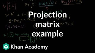 Lin Alg: Another Example of a Projection Matrix