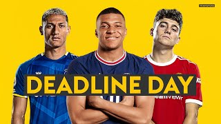 TRANSFER DEADLINE DAY LIVE! ⏰  Latest on Mbappe, Ronaldo, Griezmann, James & Kounde 📝