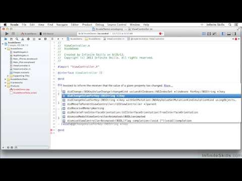 Objective-C Programming Tutorial | Editing Code – Advanced Features