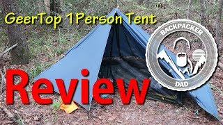 GeerTop 1person tent Review