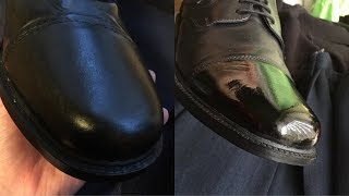 POLISHING SHOES FROM BEGGINING - Video Youtube