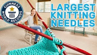Elizabeth Bond: Largest Knitting Needles - Meet The Record Breakers
