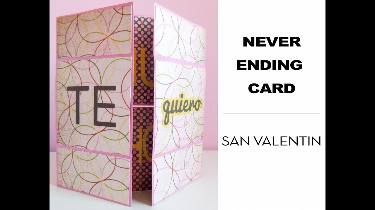 Never ending card San Valentín