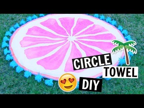 Φτιάξε μόνη σου μια στρογγυλή πετσέτα για την παραλία! thumbnail
