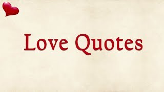Most Heart Touching Love Quotes