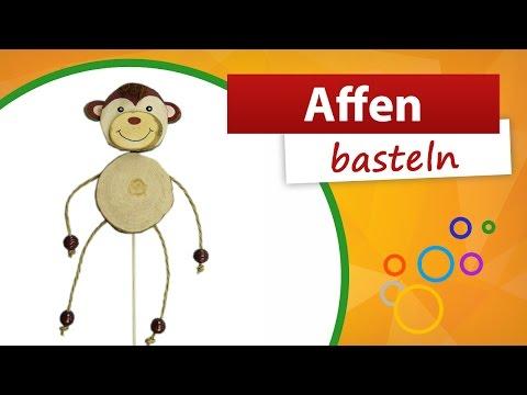 Affen basteln | Trendmarkt24 - Basteln mit Holz