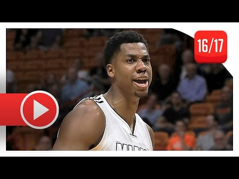 Hassan Whiteside Full Highlights vs Pacers (2016.12.14) – 26 Pts 22 Reb