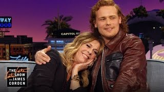 Sam Heughan dans The Late Late Show with James Corden le 31/03/16 - Extrait 1