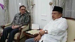 Disambut Jusuf Kalla, Pemimpin Oposisi Malaysia Anwar Ibrahim: Kalau Tau Saya Pakai Baju Putih Tadi