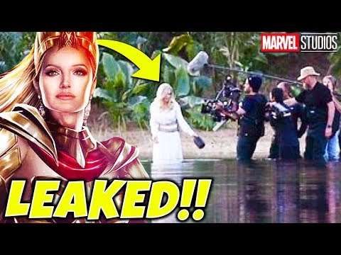 THE ETERNALS Angelina Jolie LEAKED ON SET PHOTOS as THENA (Marvel MCU Movie)