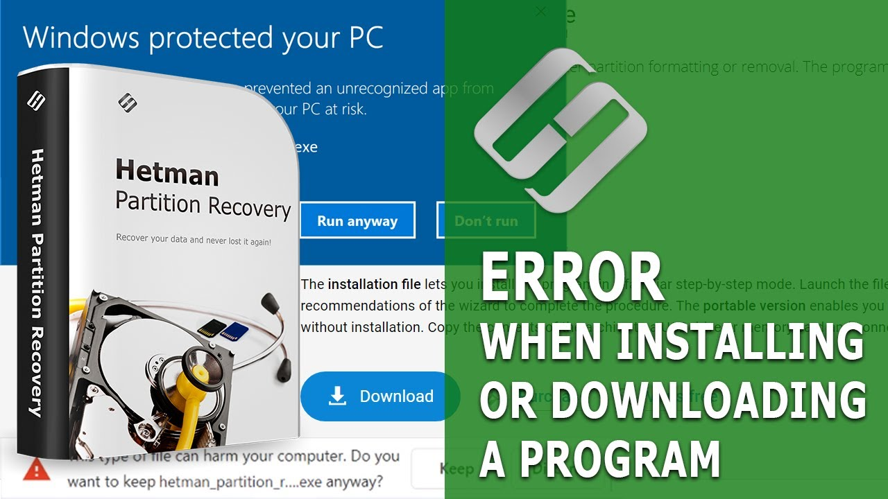 How to Fix Errors When Installing Or Downloading a Program