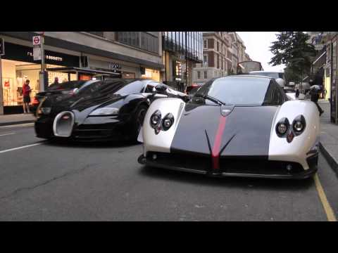 Pagani Zonda vs Bugatti Veyron SuperSport Video