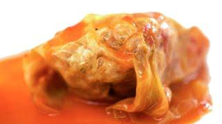 Domowe gołąbki w sosie pomidorowym (spring rolls in tomatensaus)